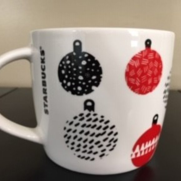 White Starbucks Christmas Mug